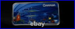 2020 CANADA $20 Clarenville UFO Incident Glow-In-The-Dark 1oz Proof Silver Coin