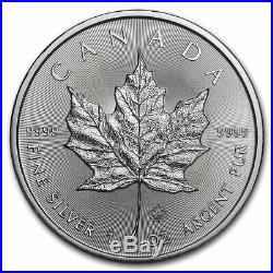 2020 Canada 1 oz Silver Maple Leaf BU (Lot of 25)