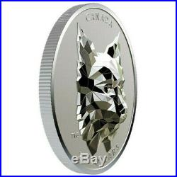 2020 Canada $25 MULTIFACETED ANIMAL HEADLYNX SILVER COIN. NEW