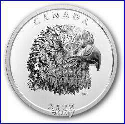 2020 Canada $25 Proud Bald Eagle High Relief pure silver coin in stock
