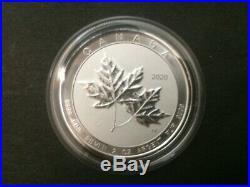 2020 Canada 2oz $10 Maple Leaf twin Leafs Silver Bullion Coin