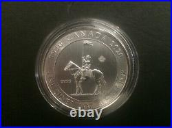 2020 Canada 2oz $10 Royal Canadian Mounted Police RCMP Silver Bullion Coin