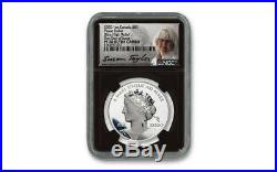 2020 Canada Peace Dollar PAX Silver NGC PR70 UC FDI BLK Core Taylor Signed Coin
