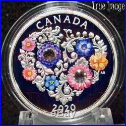 2020 Celebration of Love $3 Pure Silver Coin with Swarovski Crystals Canada