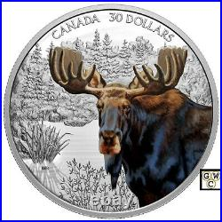 2020'Moose -Imposing Icons' Proof $30 Fine Silver 2oz. Coin (RCM 176520) (18934)