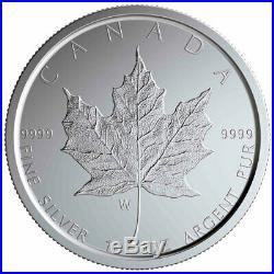 2020 W Canada 1 oz Burnished Silver Maple Leaf $5 Coin GEM BU SKU59501