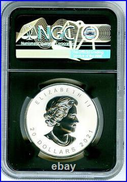 2021 $20 Canada 1 Oz Silver Super Incuse Maple Leaf Ngc Pf70 Reverse Proof Fr