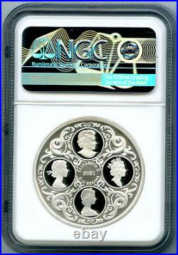2021 $20 Canada 1oz Silver Proof Ngc Pf70 Queen Elizabeth Lover's Knot Tiara Fs
