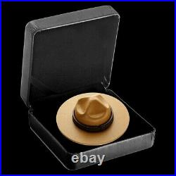 2021 $25 Pure Silver Gold Plated Classic Canadian Mountie Hat Coin BRAND NEW