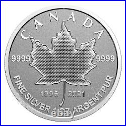 2021 CANADA $5 Pulsating Silver Maple Leaf Arboreal emblem coin only
