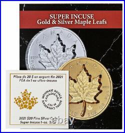 2021 Canada 1 oz Silver Maple Leaf Super Incuse Reverse PF $20 Coin NGC PF70 FR