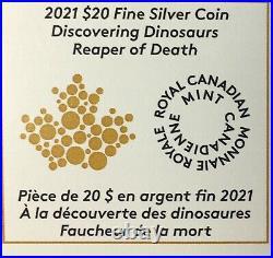 2021 Canada $20 REAPER OF DEATH BLACK RHODIUM DINOSAUR NGC PF 70 Matte