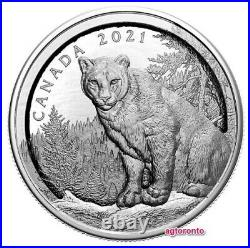 2021 Canada $50 Dollars Pure Silver Coin Multilayered Cougar (Pre-order)