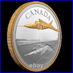 2021 Canada 5 oz. Pure Silver Coin The Avro CF-105 Arrow