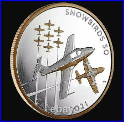 2021 Canada 5 oz. Pure Silver Coin The Snowbirds A Canadian Legacy BRAND NEW