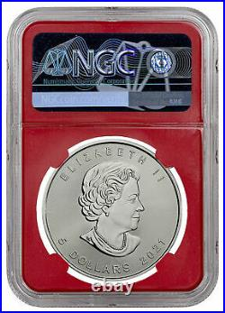 2021 Canada S$5 MAPLE LEAF 1 Oz. Silver NGC MS70 FR POP 27 OUT OF 391