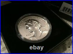 2021 Peace Dollar High-Relief Pure 1oz. 9999 silver Coin Canada
