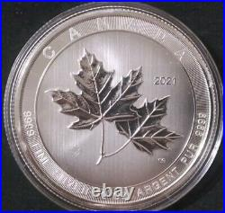 2021 Royal Canadian Mint Magnificent Maples 10 oz Maple Leaf Silver Coin. 9999