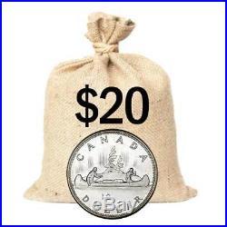 $20 Face Value Bag Canada Silver Dollar Random Year 80% Junk Silver Coins