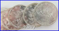 21 x CANADIAN 80% SILVER DOLLARS $1. 1961 1966. 489g INVEST IN SILVER