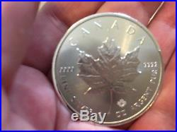 25 X 1OZ Fine Silver 2018 Roll Canada Coins Maple Leaf Royal Canadian Mint RCM