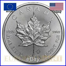 25 x Random Years 1 oz $5 CAD Canadian Silver Maple Leaf (tube)