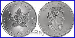 25x 2014 1oz Canadian Silver Maple Leaf Bullion Coin