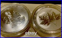 2 2018 Canada 10 oz Silver Maple Leaf. 9999 in Original Capsule And Still Wrap