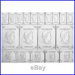 2 oz 2018 Royal Canadian Mint Maple Leaf Flex Multibar Silver Coin