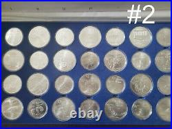 2x 1976 Canada Olympic Sterling Silver Coins Set
