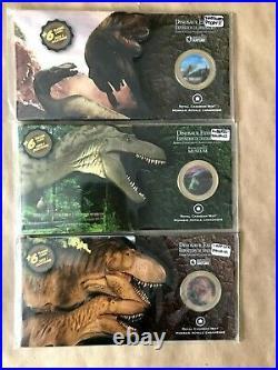 (3) 2010 Dinosaur Exhibit Canadian Museum of Nature Lenticular 50ct Coin sets