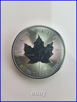 3 Canadian Silver Maple Leaf One 1 oz (. 999) Coin 2020 with tube