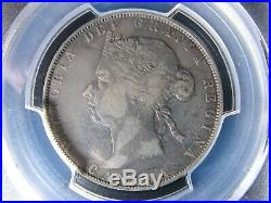 50 cents 1890H PCGS VF-20 Canada Queen Victoria silver coin c ¢ half dollar