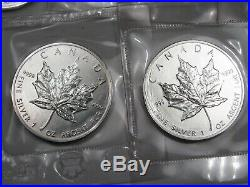 5 BU 1989 Silver Maple Leaf Coins of Canada (Original Packaging). #33