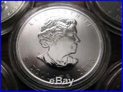 (5) Canada Wildlife Series 1oz. 9999 Silver Coins 2011, (2)12, & (2)13