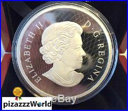 5oz PURE Silver Coin Canada-Murano Maple Leaf-Autumn Radiance-2016 RARE Sold out