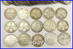 60x Newfoundland 5 Cents silver coins 1896-1945 13-dates 60-coins see list