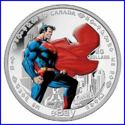 75th Anniversary of Superman Man of Steel 2013 Canada $20 Fine Silver Coin