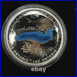 ALL 5 Fine Silver Coins Great Lakes Mintage 10,000 (2014)