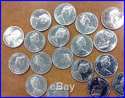 BJSTAMPS 1965 CANADIAN DOLLARS UNC ROLL Of 20 Coins 80% SILVER Canada