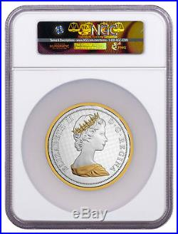 Big Coin Series Colville Rock Dove 5 oz Silver Gilt 2017 NGC PF69 UC ER SKU49092