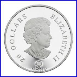 Blue Crystal Snowflake 2007 Canada $20 Sterling Silver Coin