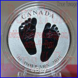Born in 2018 Welcome to the World Baby Feet $10 Pure Silver Coin in Gift Box