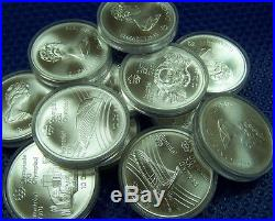 CANADA 1976 Olympic $10 coin. 925 fine. Get 10 coins = 14.4 oz of PURE Silver