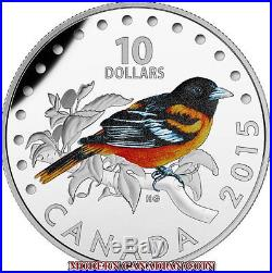 CANADA 2015 $10 1/2 oz. 5 FINE SILVER COINS COLOURFUL SONGBIRDS OF CANADA