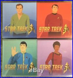 CANADA 2016 $10 STAR TREK SERIE SILVER COIN COMPLETE SET Kirk Scotty Spock Uhura