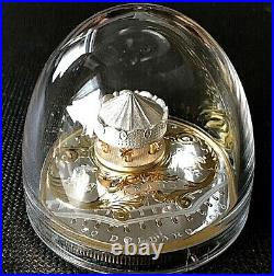 CANADA 2018 $50 Antique Carousel 6 oz Pure Silver Gold-Plated Proof Coin