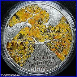 CANADA $20.999 Fine Silver 1 oz. Coin Maple Autumn Allure Canopy 2014