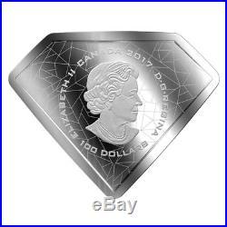Canada 100 dollars 2017 DC Comics Superman's Shield 10oz silver coin PROOF
