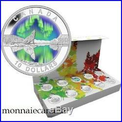 Canada 10 Coins set $10 1/2 oz. Fine Silver Coins O Canada 2014